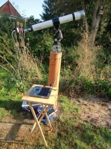 Equipment für Sonnenfotografie.