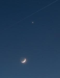Begegnung Mond / Venus am 23.03.2015