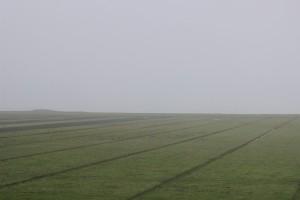 Der (nicht zu sehende) Dollart bei Nebel
